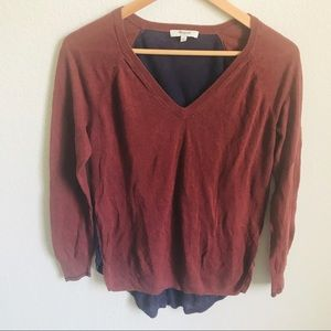 Madewell high low sweater size small